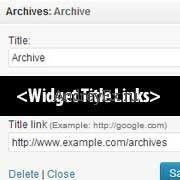Как добавить ссылку заголовка на виджет в WordPress