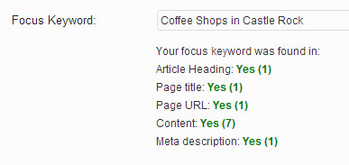 Предложения WordPress SEO Ключевое слово Ключевое слово для фокусировки