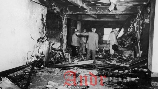 Четырнадцать человек погибли, когда смертник прилетел в Empire State Building в 1945 году