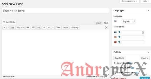 Добавление многоязычности в WordPress с помощью плагина Polylang