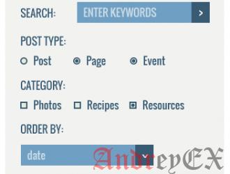 Как создать форму расширенного поиска для постов в WordPress