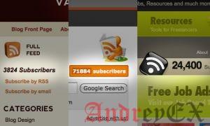 Количество подписчиков Feedburner на сайте Wordpress как текст
