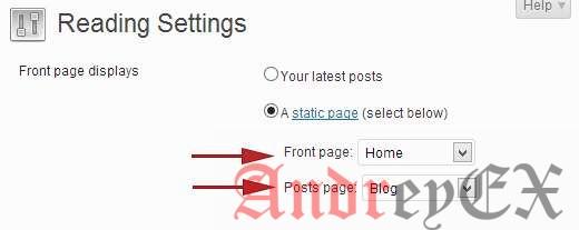 Настройка страницы блога в WordPress