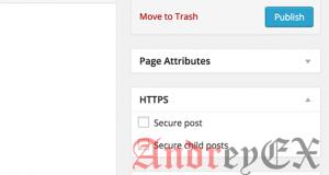 Принуждение HTTPS на конкретных страницах и постах