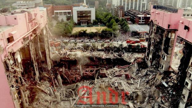 Разрушение универмага Sampoong оказался самой смертоносной катастрофой в мирное время в истории Южной Кореи