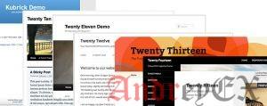 Тема по умолчанию в Wordpress