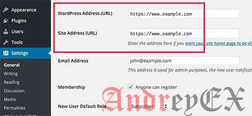 Настройка WordPress использовать HTTPS в URL-адреса для нового веб-сайта