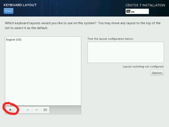 Изменение раскладки клавиатуры в CentOS 7