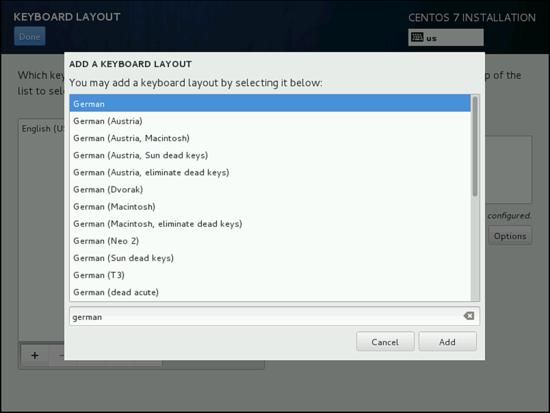 Добавление языка в установке CentOS 7