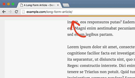 Чтение прогресс бар в посте WordPress