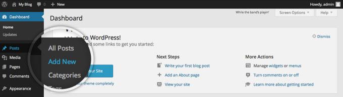 Создание поста на WordPress!