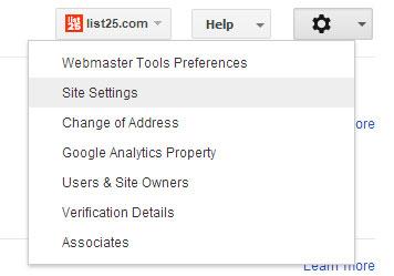 Инструменты настройки для веб-мастеров в Google