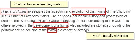 Используйте ключевые слова в тексте