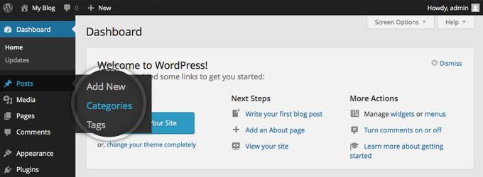 Категории в WordPress