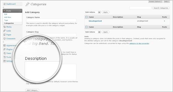 Мета-описания для категории в WordPress