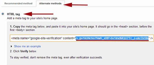 Подтверждение права собственности вашего сайта в Google Webmaster Tools