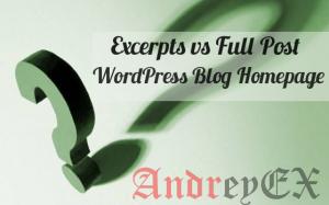 Полный пост против Excerpt (выдержки) что лучше для архивов страниц WordPress?