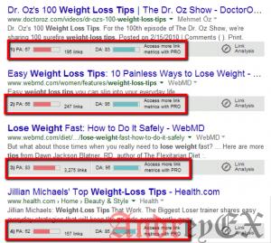 Получить ссылки со страницами с более высоким рангом Google