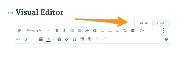 Визуальный редактор текста в WordPress