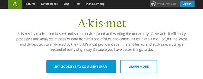 Защита от спама в комментариях с Akismet