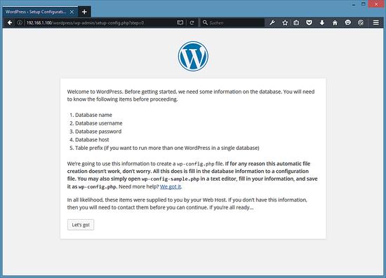 Экран приветствия на вашем языке показывается в WordPress .