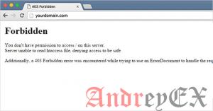Как исправить ошибку 403 Forbidden в WordPress