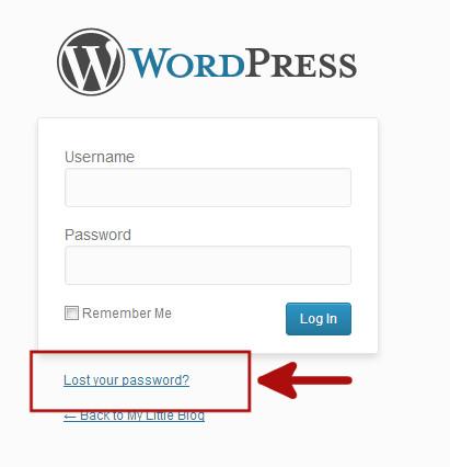 Напоминание пароля для восстановления на странице входа в WordPress