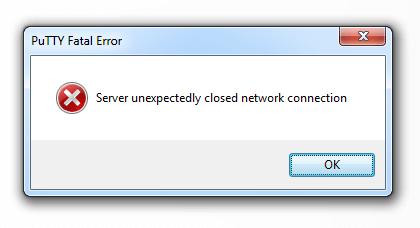 """Ошибка: """"Сервер неожиданно закрыл подключение к сети"""""""
