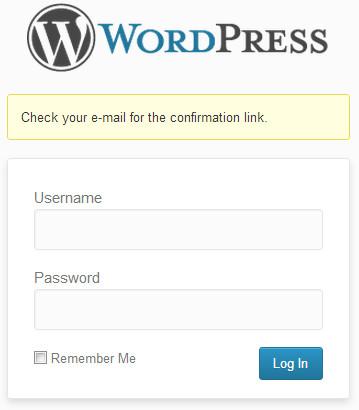 Отправлена ссылка на восстановления пароля в WordPress