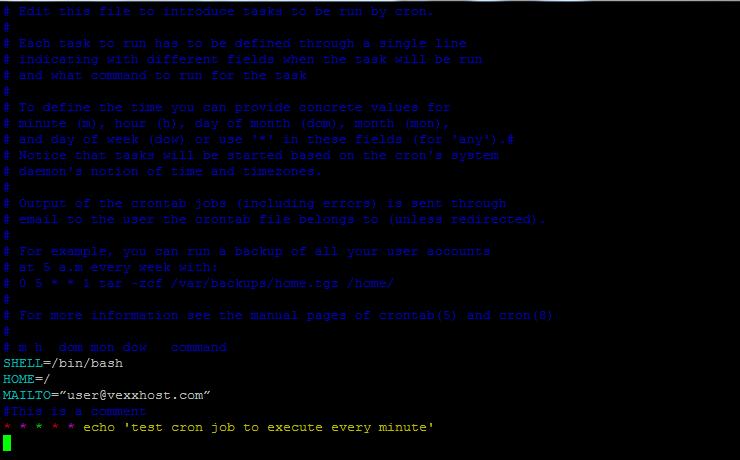 Планирование заданий для запуска каждую минуту - cron - Ubuntu