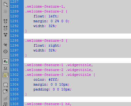 Пустые строки в CSS Stylesheet