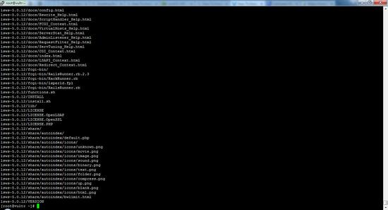 Распаковка архива LiteSpeed