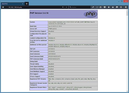 Тестирование PHP. Получить более полную информацию о вашей установеи PHP5