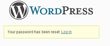 Восстановление пароля завершена
