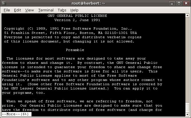 Все, что нужно знать о команде more в Linux