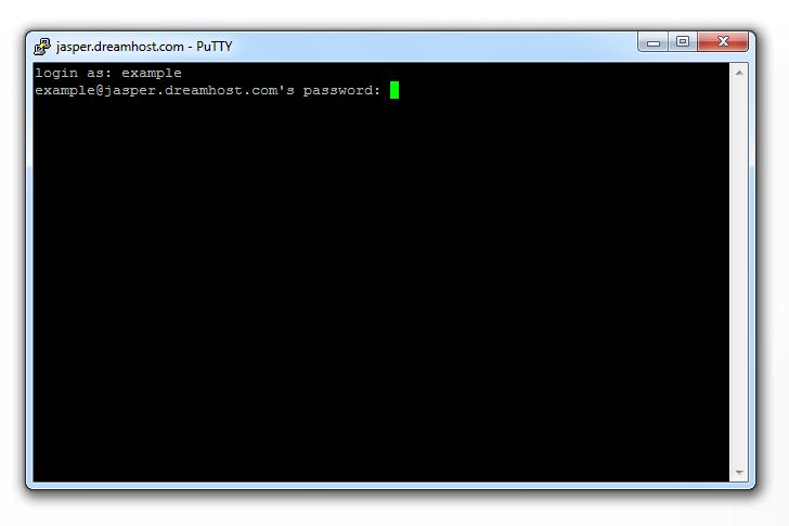 окно терминала, необходимо ввести свой FTP имя пользователя и пароль