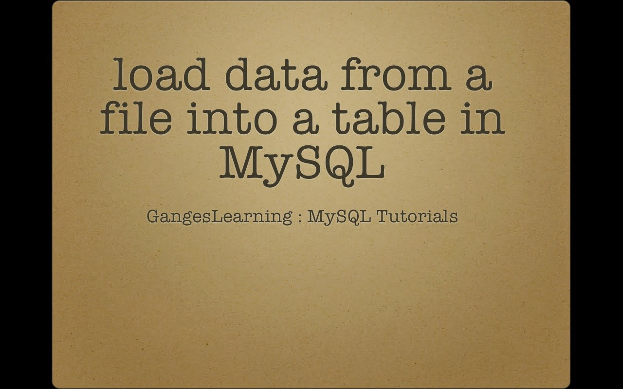 10 Примеров входной загрузки данных из текстового файла в таблицы MySQL