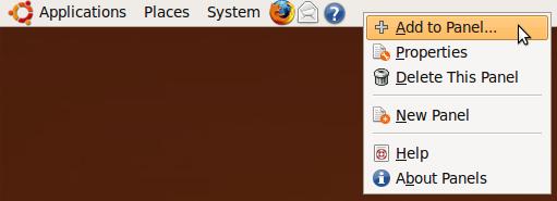 Добавить системный монитор в панели задач Ubuntu Graph