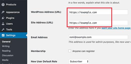 Изменить URL в WordPress для использования HTTPS
