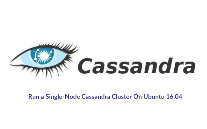 Как настроить Cassandra и запустить на одноузловом кластере на Ubuntu 16.04