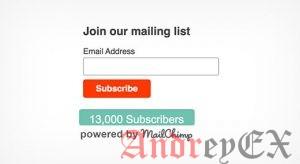 Как показать количество подписчиков MailChimp в WordPress