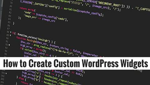 Как создать пользовательский виджет в WordPress