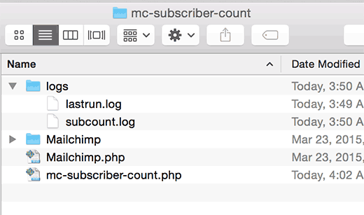 Окончательная структура файлов плагина