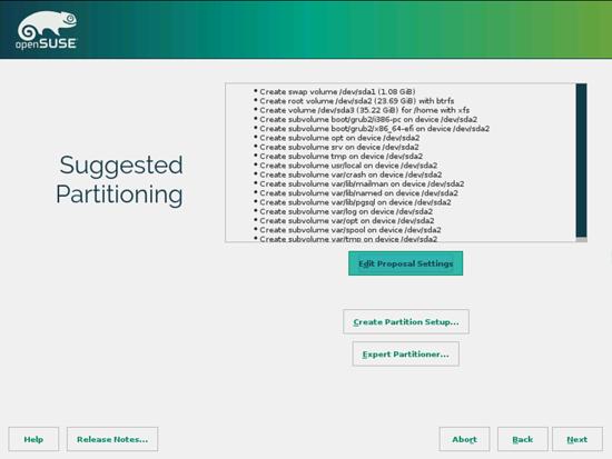 OpenSUSE. Изменений настроек предложенных пакетов