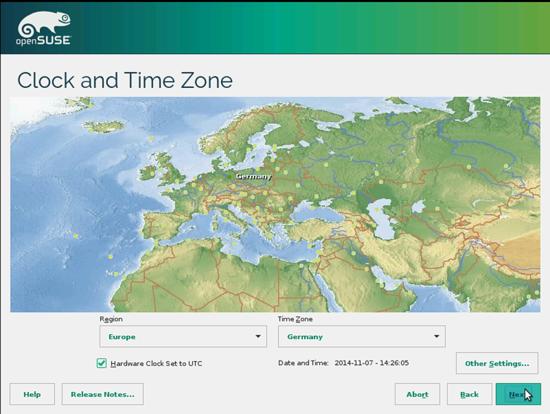OpenSUSE. Корректировка часового пояса