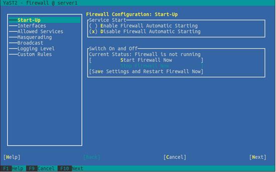 OpenSUSE. Настройка брандмауэра