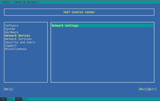 OpenSUSE. Настройка параметров сети