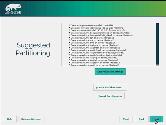 OpenSUSE. Точки монтирования. Далее.