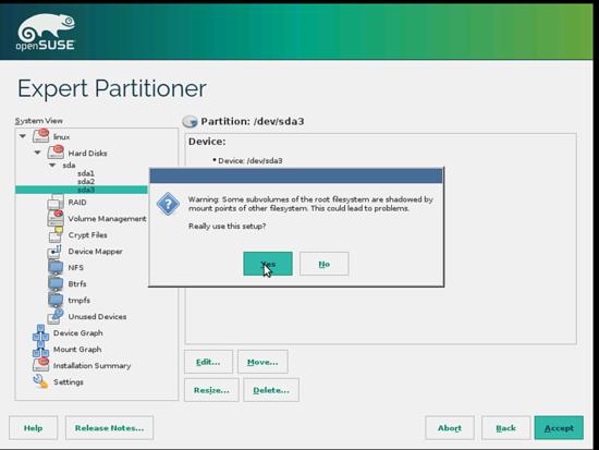 OpenSUSE. Точки монтирования. Соглашение.