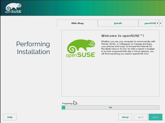 OpenSUSE. форматирование, установка и конфигурирование системы